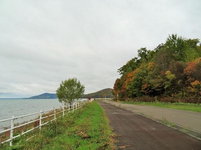 サロマ湖と紅葉 (2)