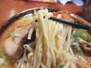 満月安田 辛味噌ラーメン 麺