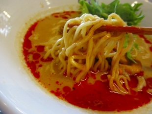 175°DENO担々麺 担々麺汁あり 麺スープ