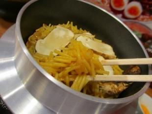 豚シャモジ 松茸釜麺 (4)
