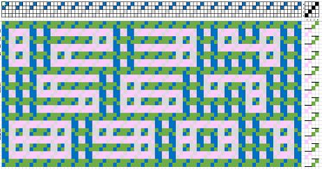 ヤノフ絵織物数字織り図