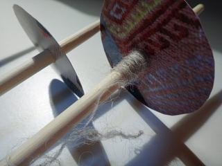 お箸スピンドルで紡ぐ