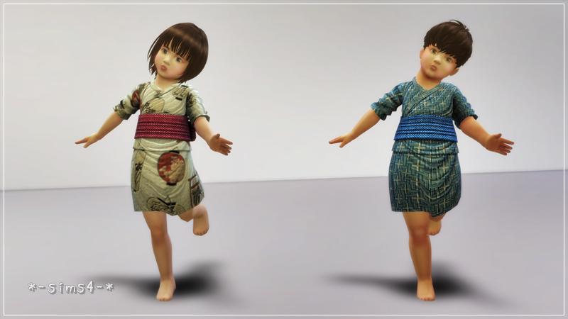 シムズ4 幼児の浴衣配布しました