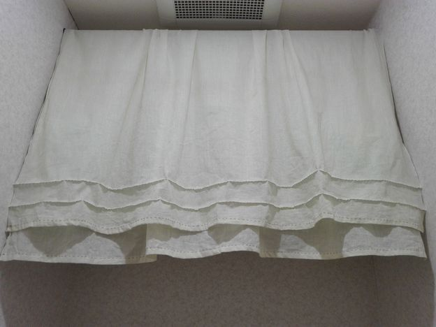 トイレの目隠しカーテン