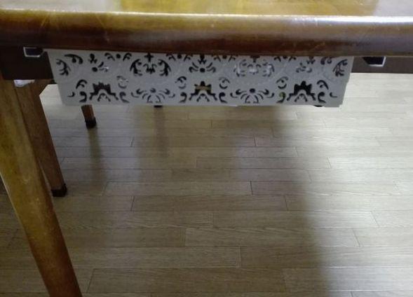 テーブル下の小引き出し作製