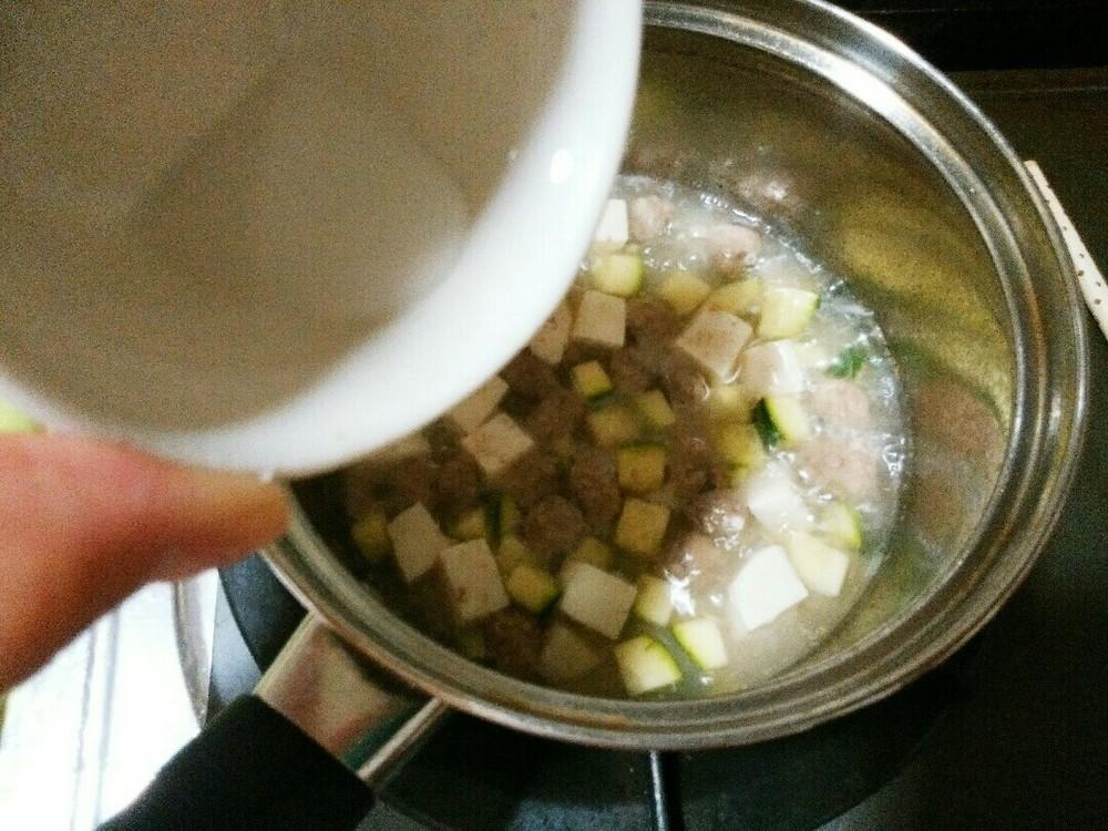 麻婆豆腐風あんかけこ?飯の作り方4