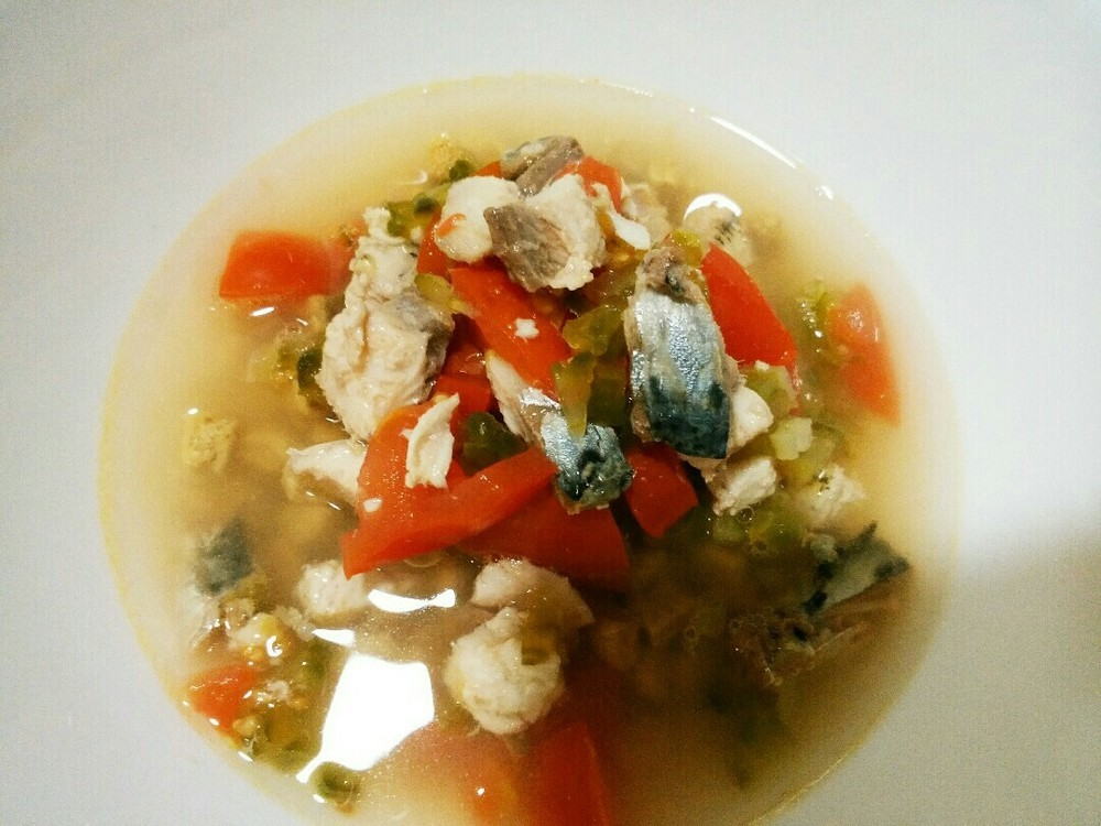 鰯と夏野菜のスープかけごはんの作り方3