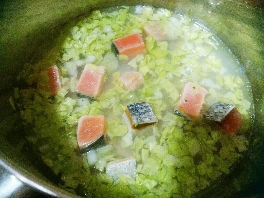 鮭と白菜のおじやの作り方3