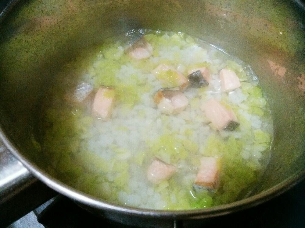 鮭と白菜のおじやの作り方4
