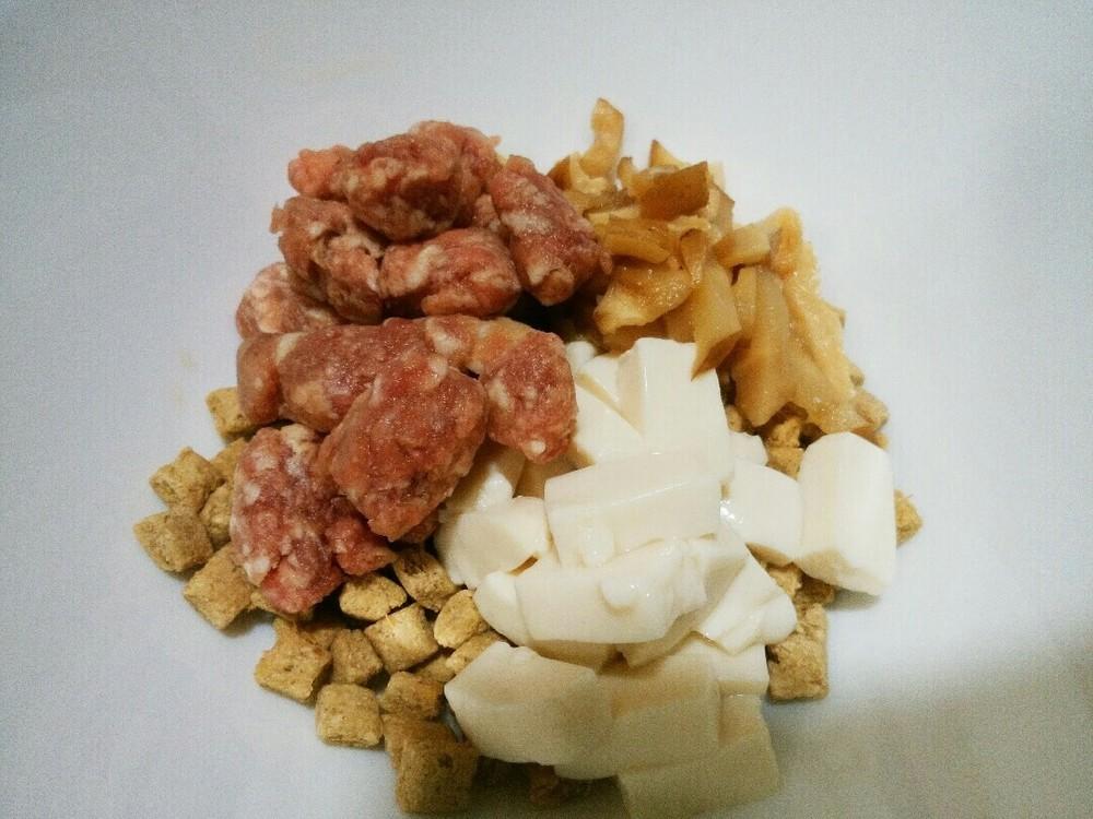 ラム肉と豆腐と椎茸のせごはんの作り方3