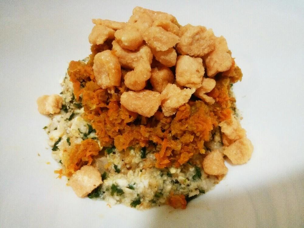 根菜とチキンビッツのせごはんの作り方6