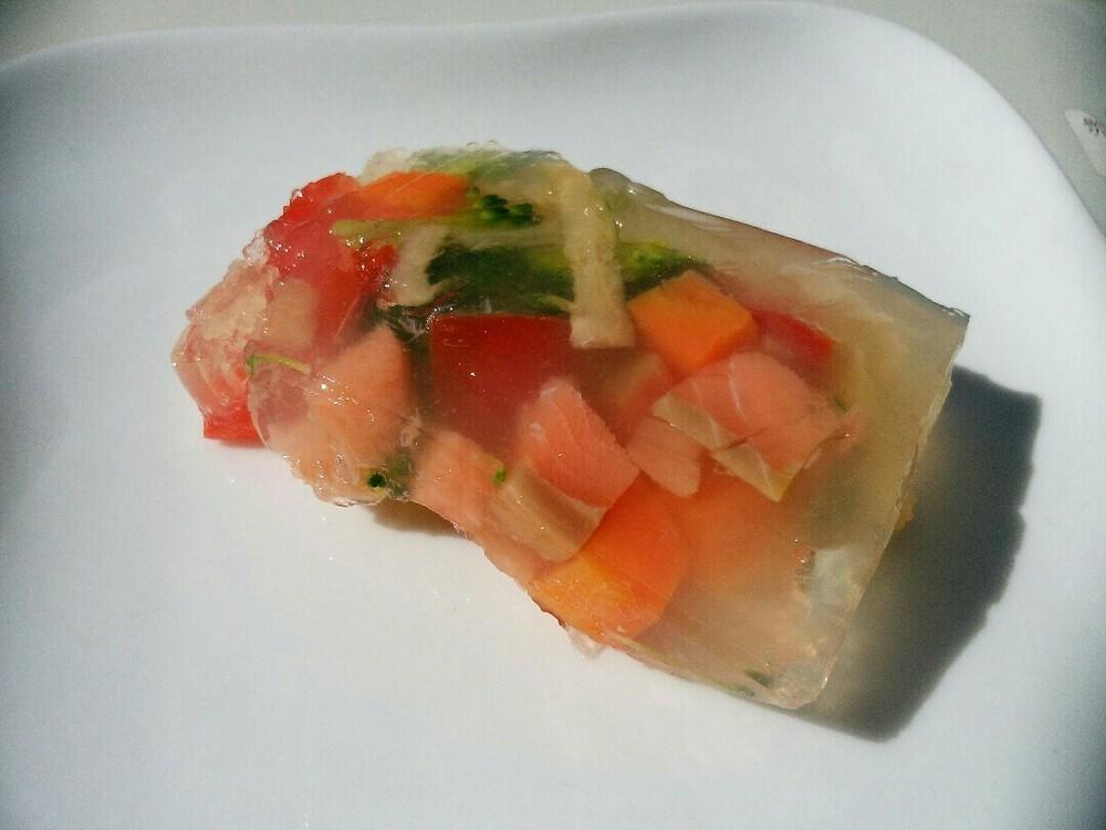 鮭と野菜のゼリー寄せの作り方12