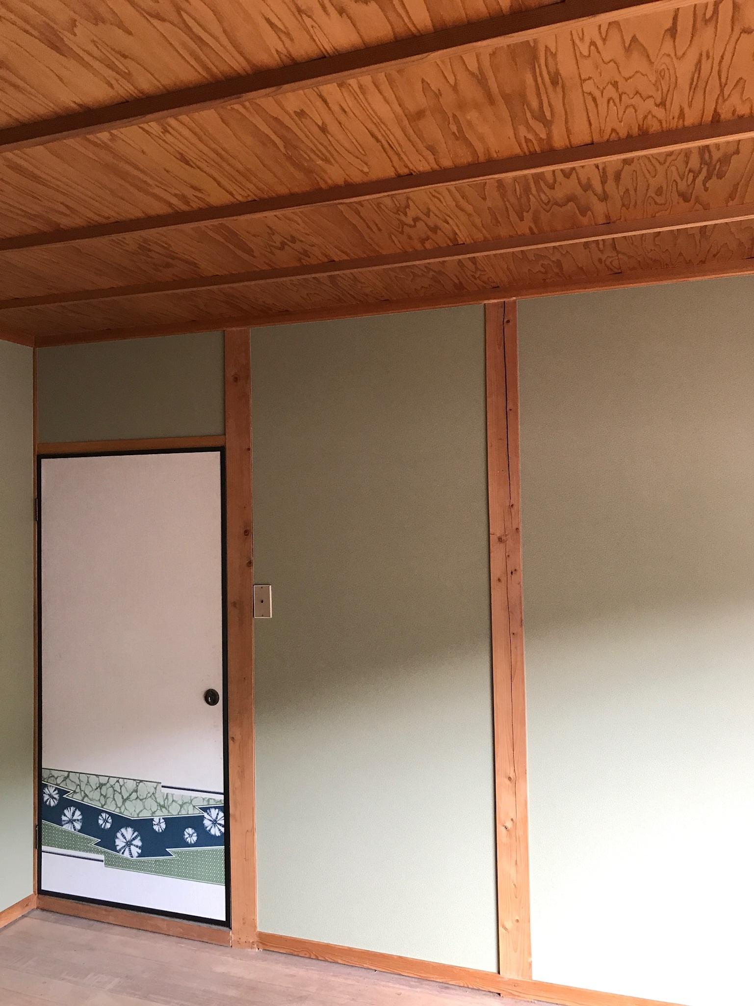 掃除が大変!! 和室壁をクロス壁へ