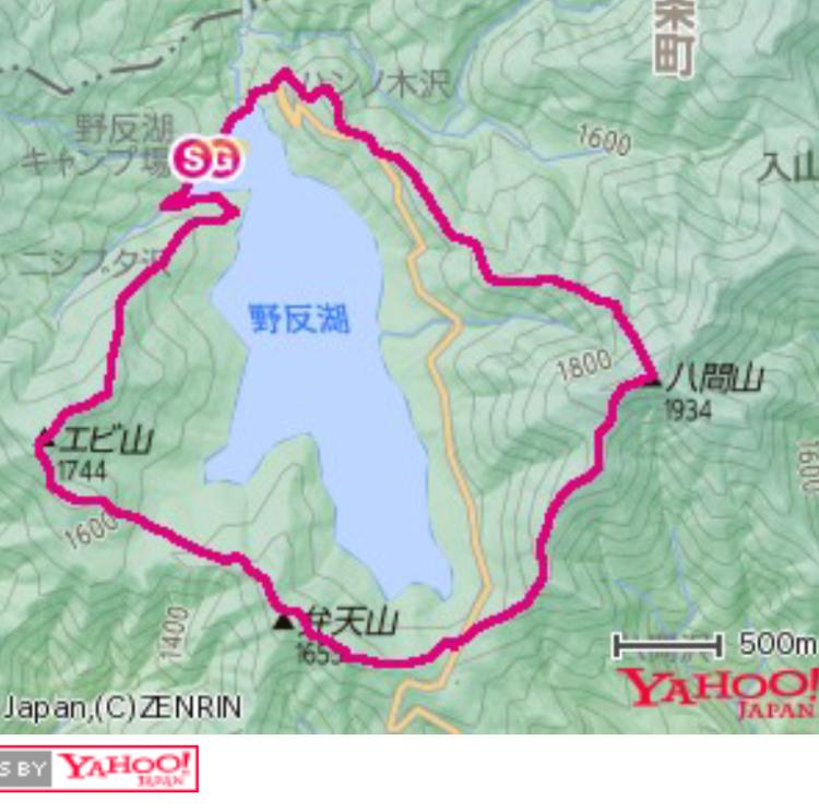 【野反湖ぐるっと1周山旅】エビ山・弁天山・八間山(地図コース&記事まとめ)