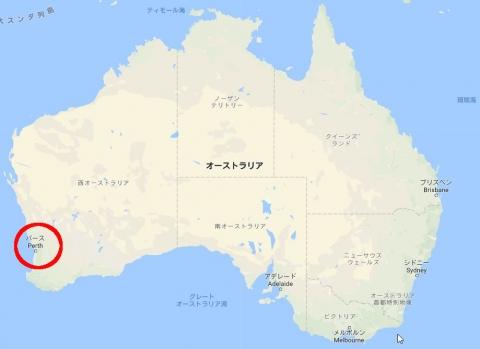 オーストラリアのパースの場所