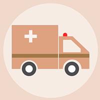 ピンクの救急車Pixabay