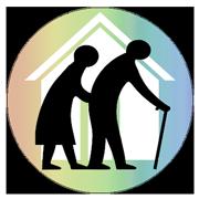 介護と杖高齢者Pixabay