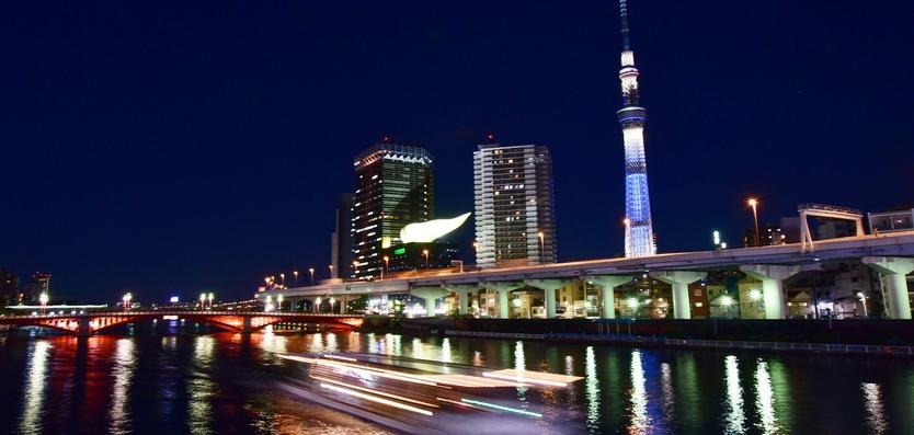 隅田川と首都高6号向島線