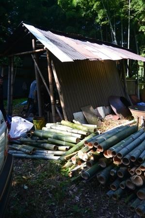 炭焼き用の竹
