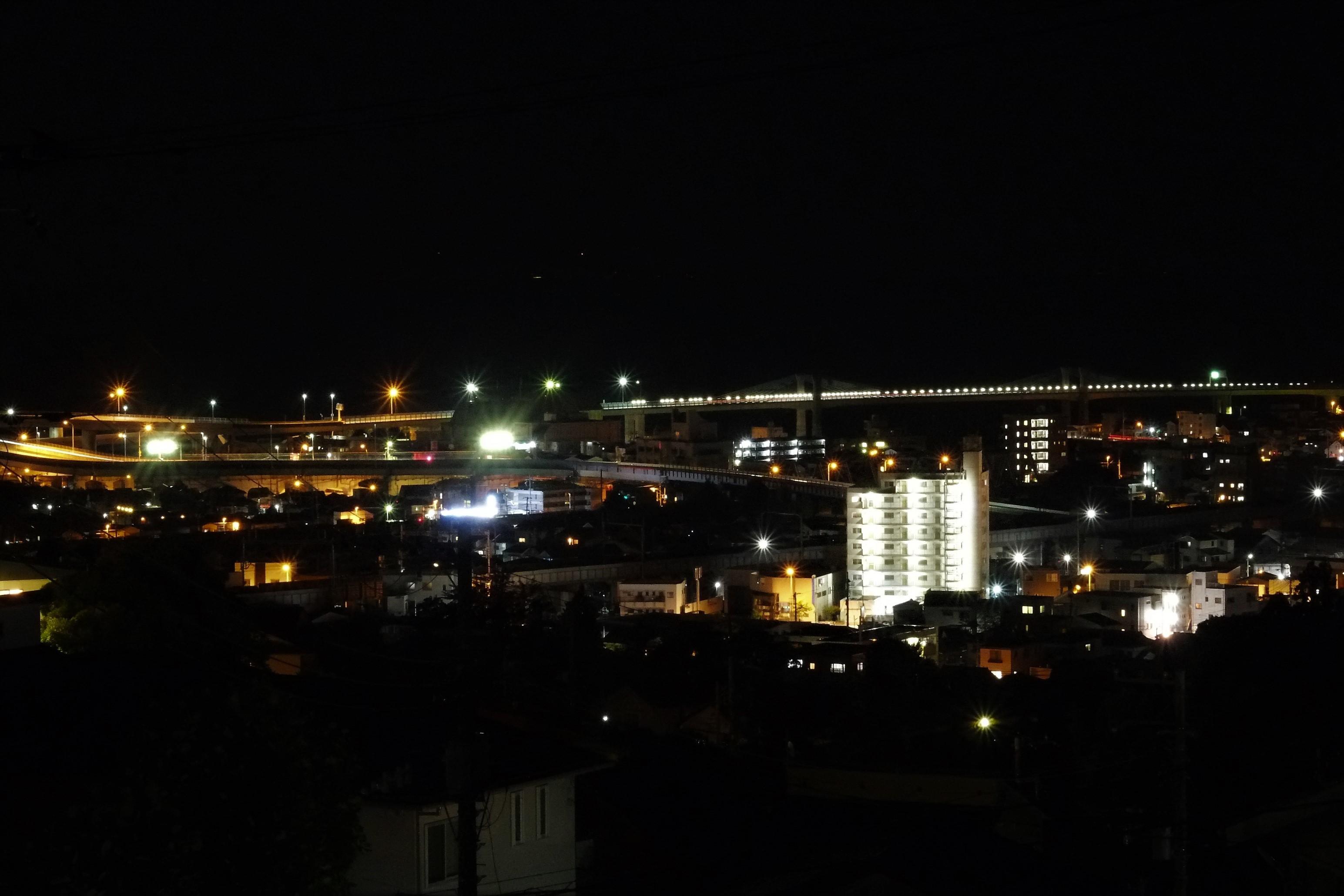 灯りのある風景1(小峰・一夜城)