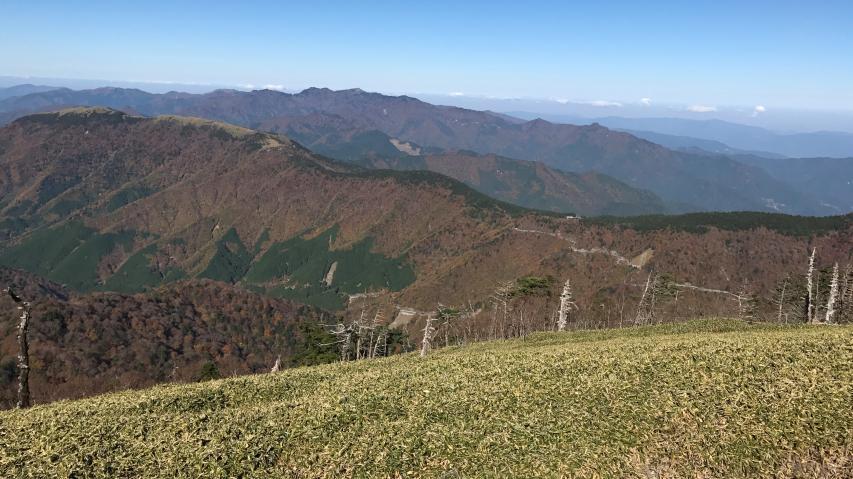 山頂からの眺望、北の方向