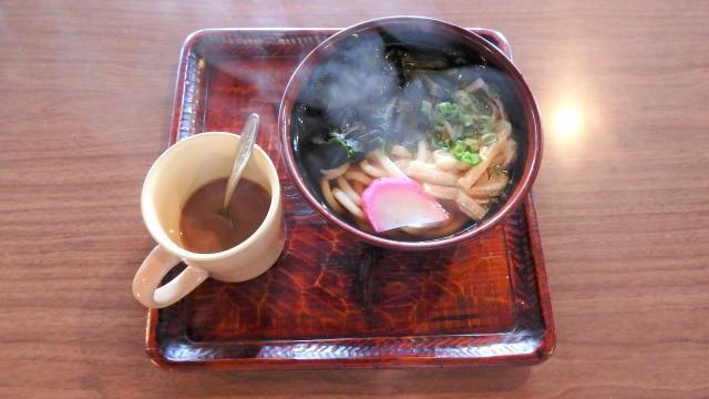 西日本一高所での昼飯