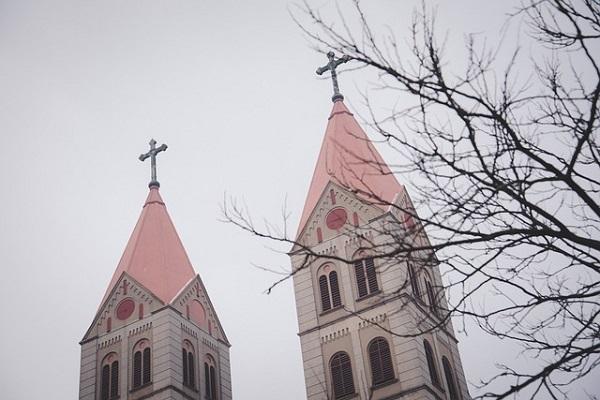 フリー画像・教会の見える景色