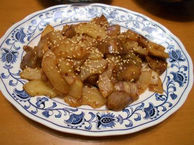9.29モーウィと茄子の味噌バター炒め