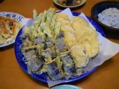 10.6秋の野菜の天婦羅