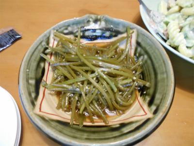 10.7さつま芋の茎のキンピラ