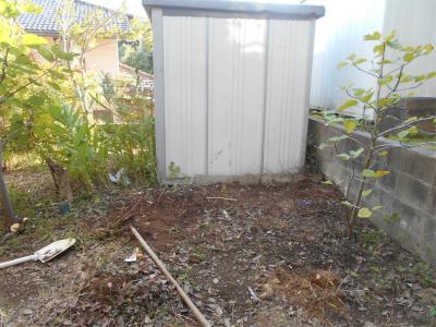 3101021小屋の予定地整理