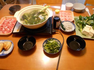 301103常夜鍋の夕食