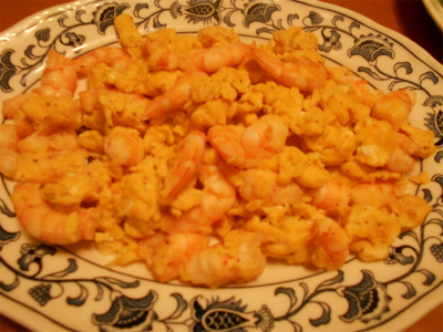 301207エビと卵の炒め物