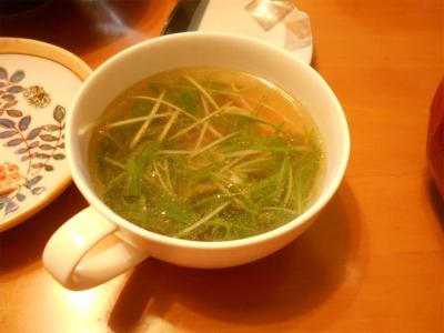 301221水菜と豚肉のスープ