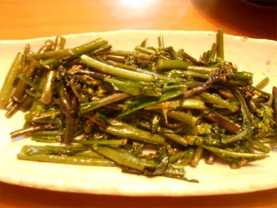 310121紅菜苔炒め