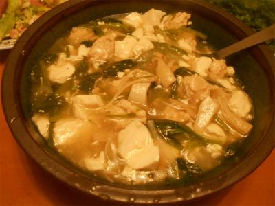 310222ほうれん草と豆腐の旨煮