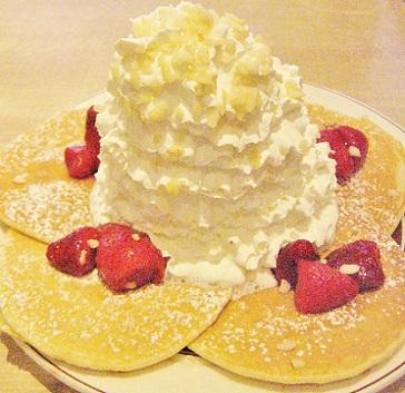 いちごのパンケーキです