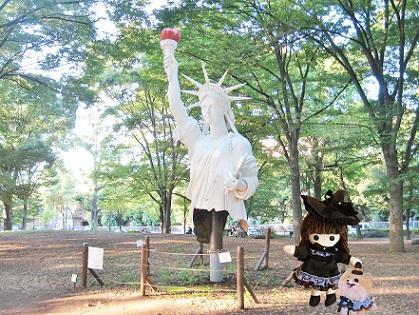 上野公園に自由の女神が