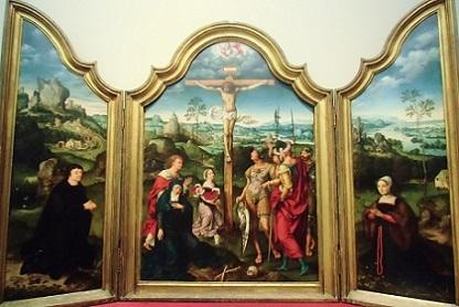 三連祭壇画 キリストの磔刑