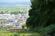 中富良野駅方面への急坂
