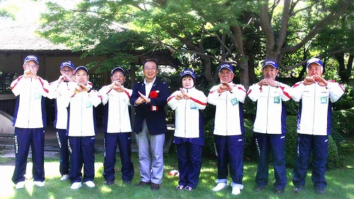 「ねんりんピック」栃木県選手団を激励に!④