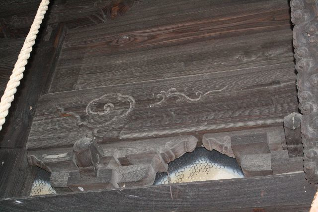 西金野井 香取神社の扁額 唐草模様