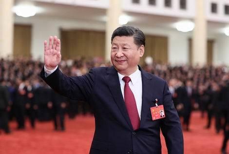 中国共産党大会での習近平氏201710(470x316)