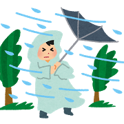 天気、暴風雨