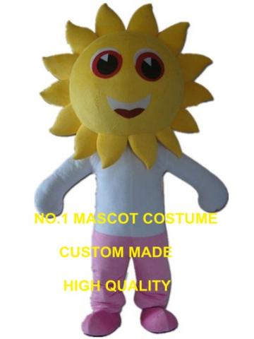 ひまわり少年マスコット衣装太陽花マスコットカスタム大人サイズ漫画のキャラクターコスプレカーニバル衣装3265