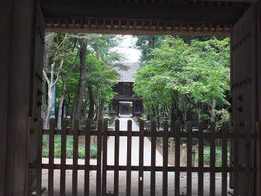 05平林寺総門から見た景色0926