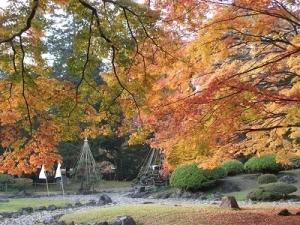 171102紅葉と庭園