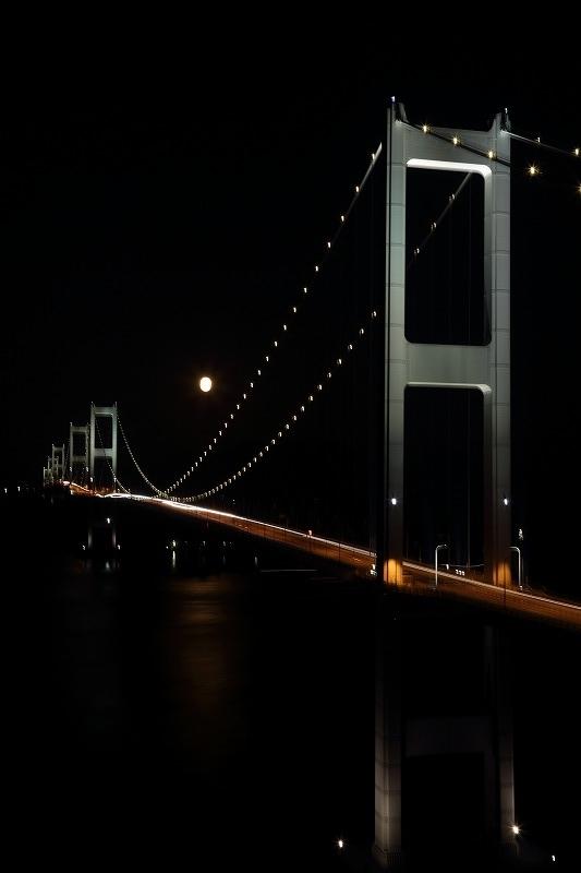 来島大橋&満月 171105 03