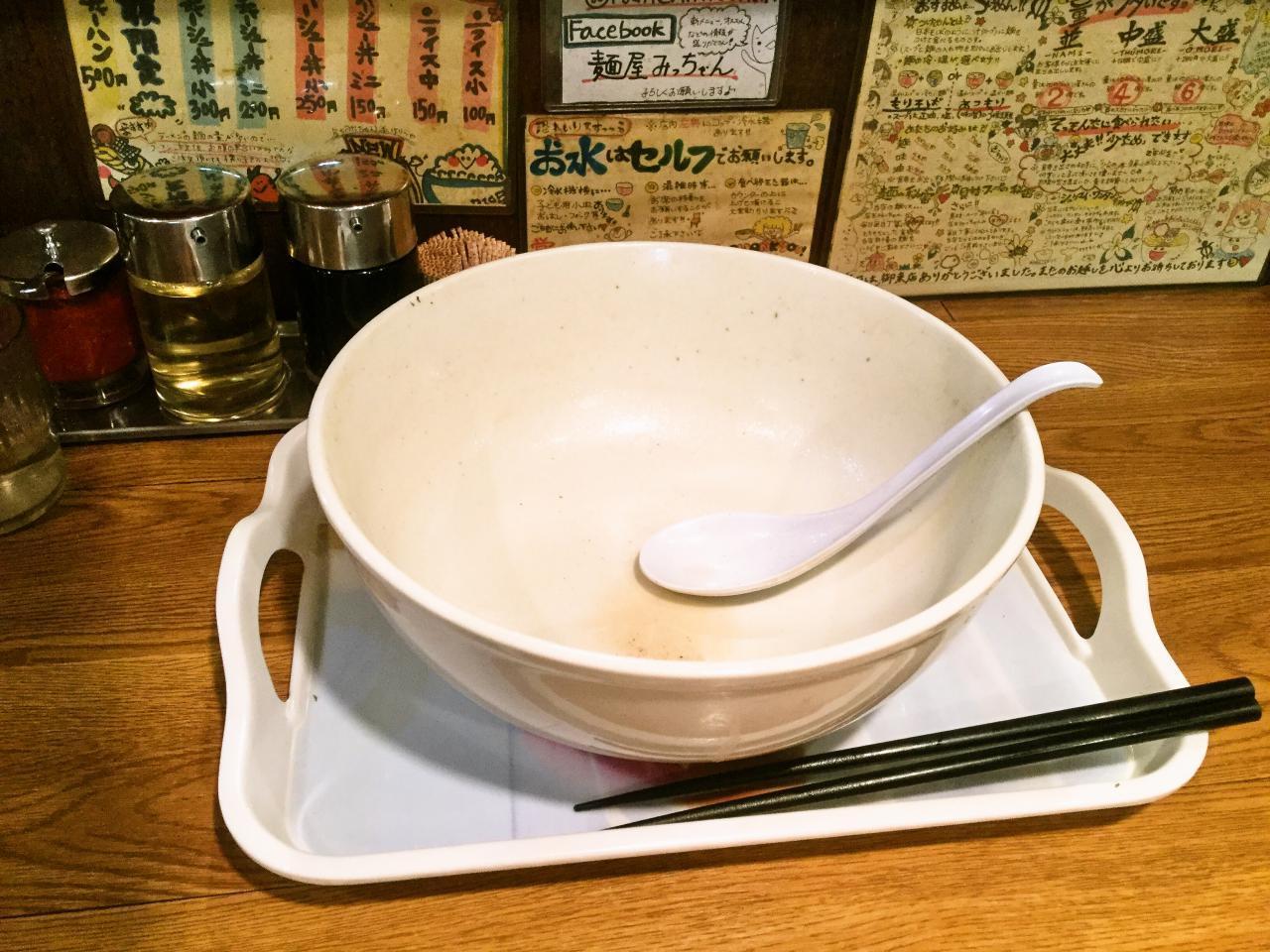 麺屋みっちゃん(濃厚にぼし塩豚骨ラーメン)