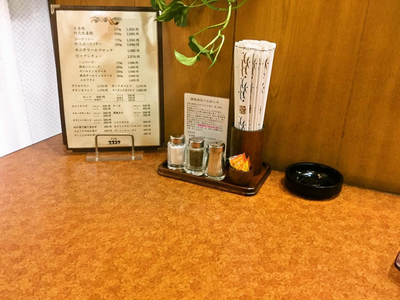 昔ながらの洋食屋 ぐりる スズコウ(店内)